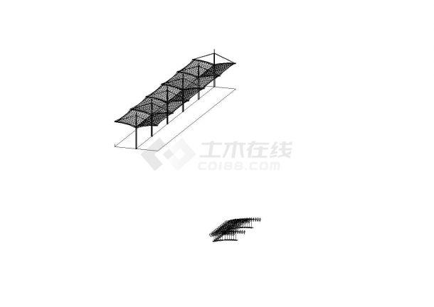 某膜结构车棚工程设计cad全套建筑图纸(含设计说明)-图一