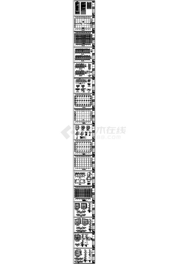 某楼顶阳光板阳光房(960㎡)设计cad全套建筑施工图纸(含设计说明,含结构设计)-图二