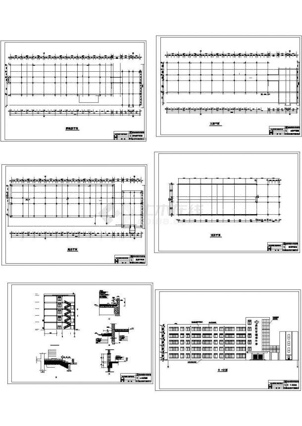 某6719平方米五层中学教学楼建筑方案图(毕业设计)-图二