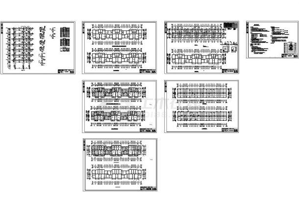 4000平方米7层住宅楼建筑结构设计施工cad图纸,共十四张-图二