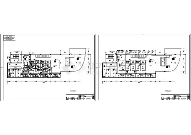 某茶楼中央空调设计cad施工方案图纸(标注详细)-图一