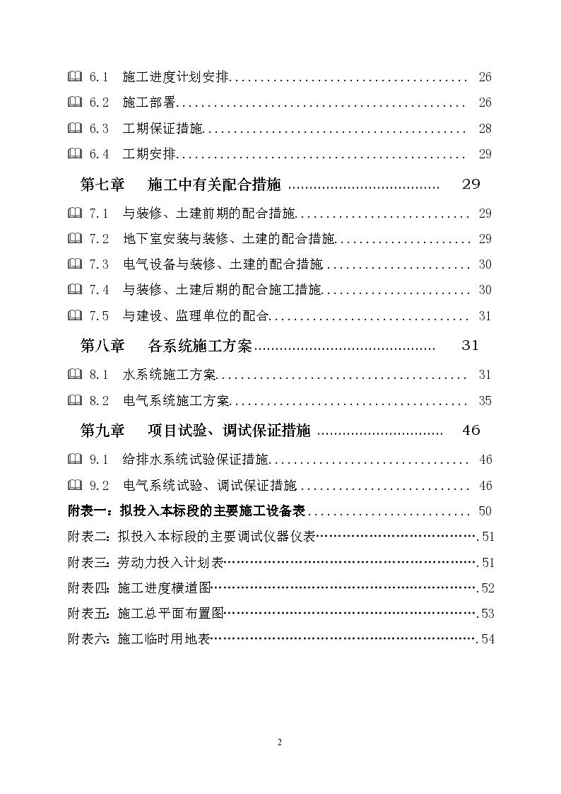 四川省高层住宅楼水电安装工程施工组织设计-图二