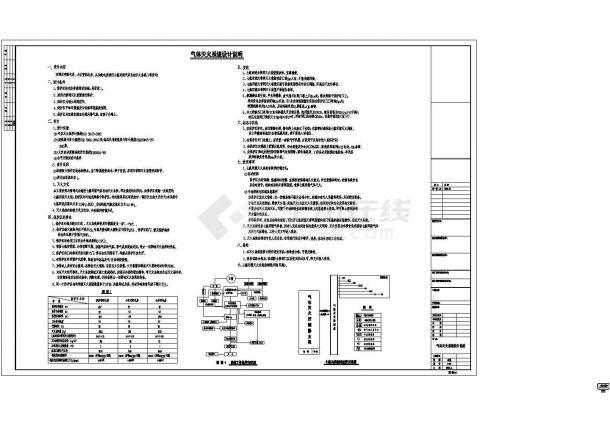 [福建]12层知名酒店给排水施工CAD图纸设计-图一