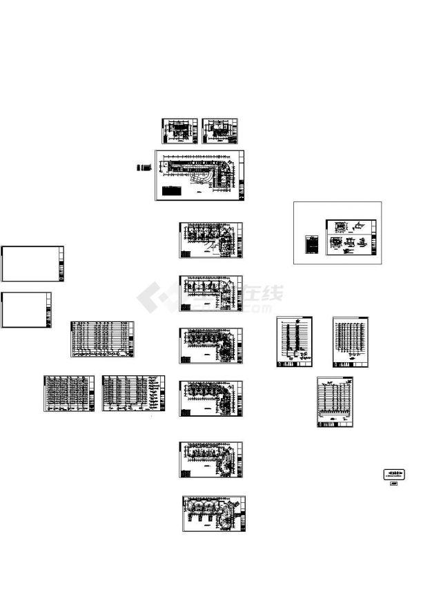 [福建]12层知名酒店给排水施工CAD图纸设计-图二