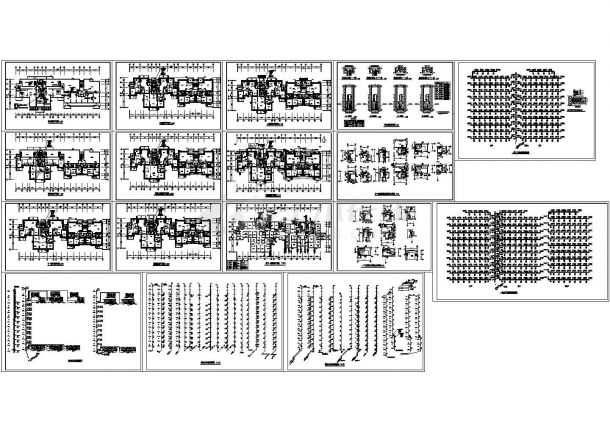 某小高层住宅暖通给排水设计cad施工图-图二