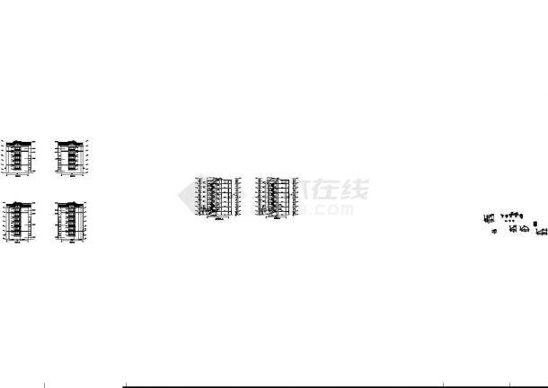 北京灌庄小区小区8#住宅建筑图,共12张-图一