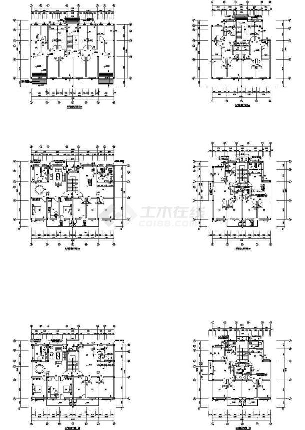北京灌庄小区小区8#住宅建筑图,共12张-图二