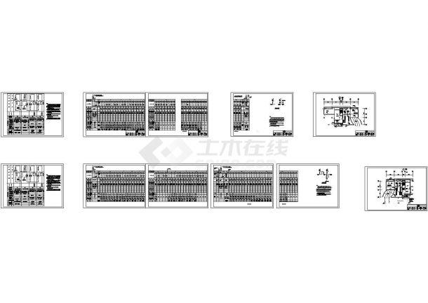 配电房低压配电系统图及平面布置图-图一