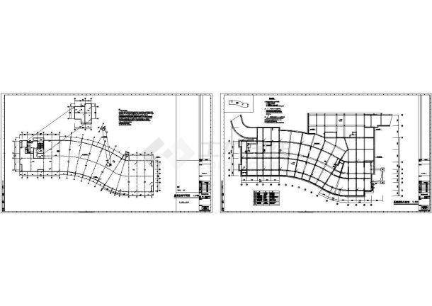 某训练中心防雷接地设计cad施工图(含设计说明)-图一