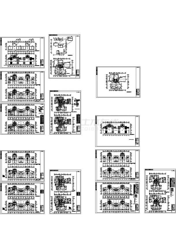 某高层商业大厦强弱电设计cad全套电气施工图纸(含设计说明,含供配电、安防对讲、火灾报警系统)-图二