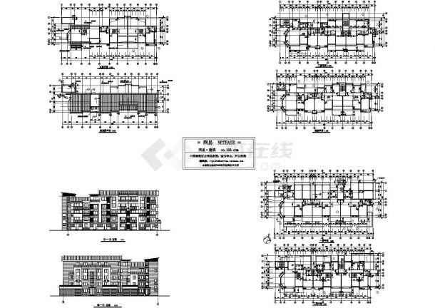 某地五层住宅方案设计cad图,共八张-图一