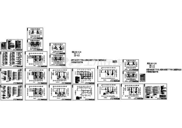 二类高层住宅楼电气设计施工cad图纸,共二十二张-图一
