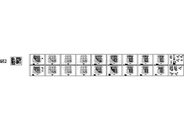 六层框架结构中学教学楼结构图_dwg-图一