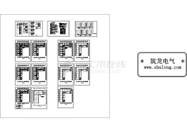 某1279㎡五层办公楼强弱电设计cad全套电气施工图(含设计说明)-图一