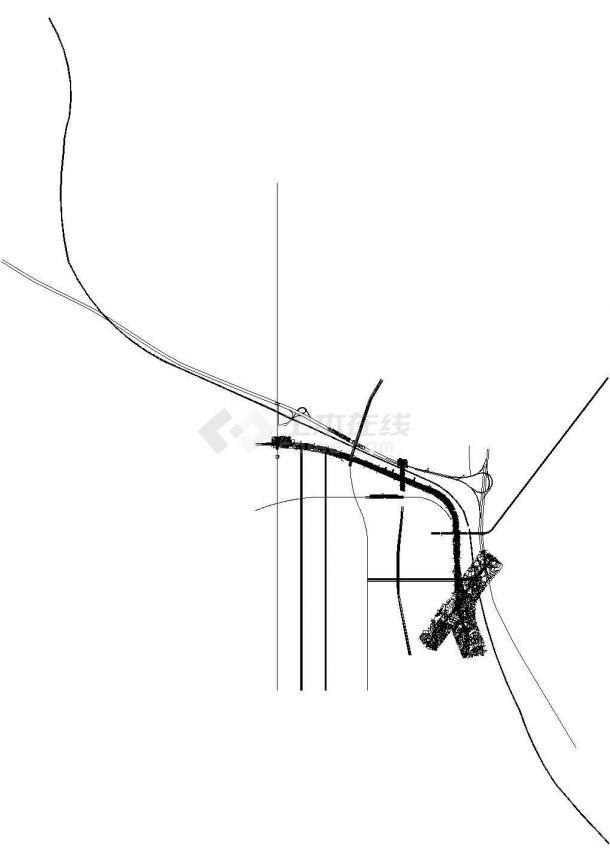 单孔三车道双跨矩形闭合框架城市主干路下穿隧道工程设计图纸59张CAD(U槽,喷锚防护)-图一