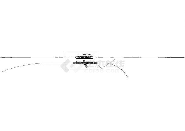 单孔三车道双跨矩形闭合框架城市主干路下穿隧道工程设计图纸59张CAD(U槽,喷锚防护)-图二