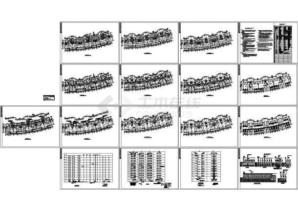 十一层小高层住宅楼电气设计施工cad图纸,共十七张-图一
