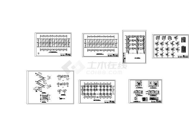 某2841.6㎡四层框架结构中学教学楼毕业设计cad全套施工图纸(含设计说明,含计算书,含建筑、结构图)-图二