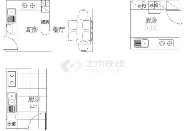 某私人住宅室内家庭装修设计cad全套施工图(含厨房、客厅、书房、卧室等设计)-图一