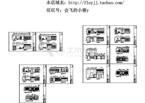 三层董事长别墅西式风格别墅装修设计图(长21.35米 宽16.7米 效果图13张)-图一
