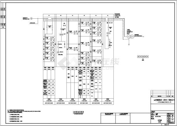 某印刷器材厂0.4KV配电系统图-图一