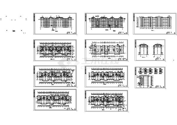 某地上六层住宅建筑施工图纸,共十一张图纸-图一