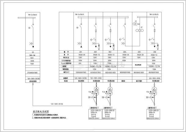 放射间高压配电系统图dwg格式-图二