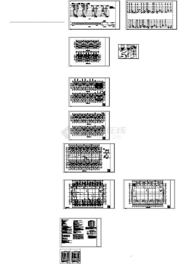 6层住宅小区给排水设计cad施工图-图一