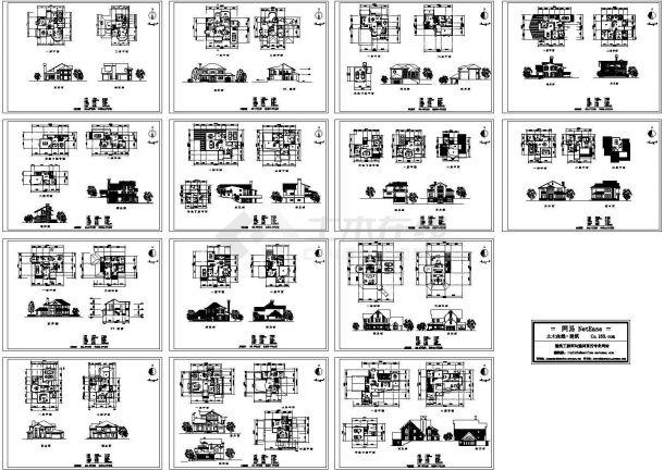 某14套别墅建筑设计方案施工图-图一