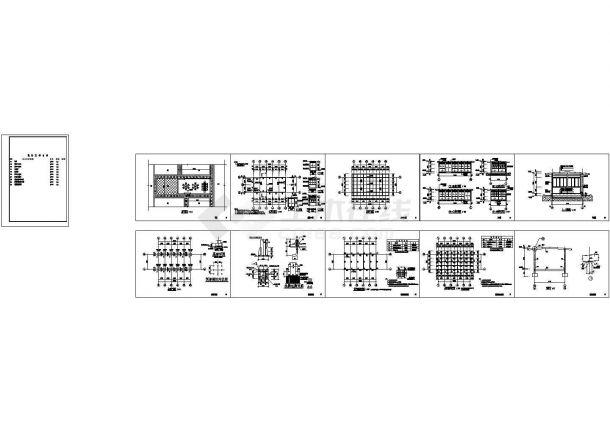 某农庄室外阳光房建筑结构设计cad全套施工图纸(甲级院设计)-图一
