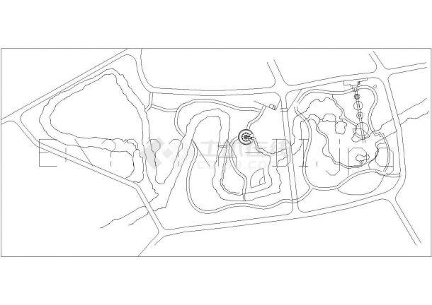 永嘉县鹅脯公园详细景观规划设计cad图(含总平面图)-图一