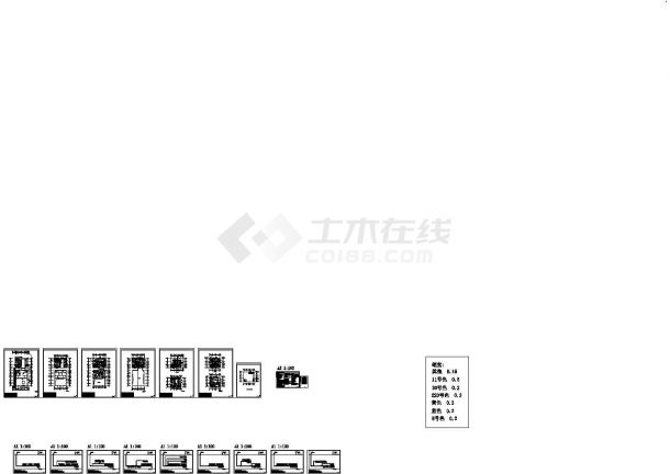 某8层办公楼多联机空调设计施工CAD图设计-图一