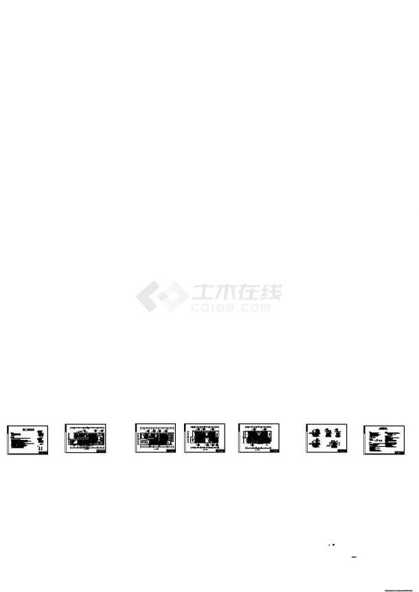 北京某别墅地暖CAD施工图-图一