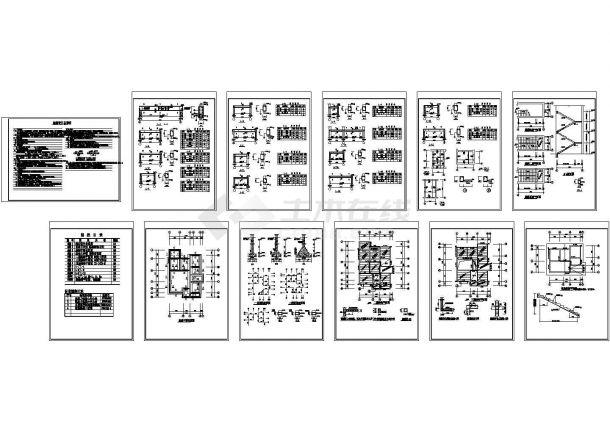 某农村住宅结构设计施工图-图二