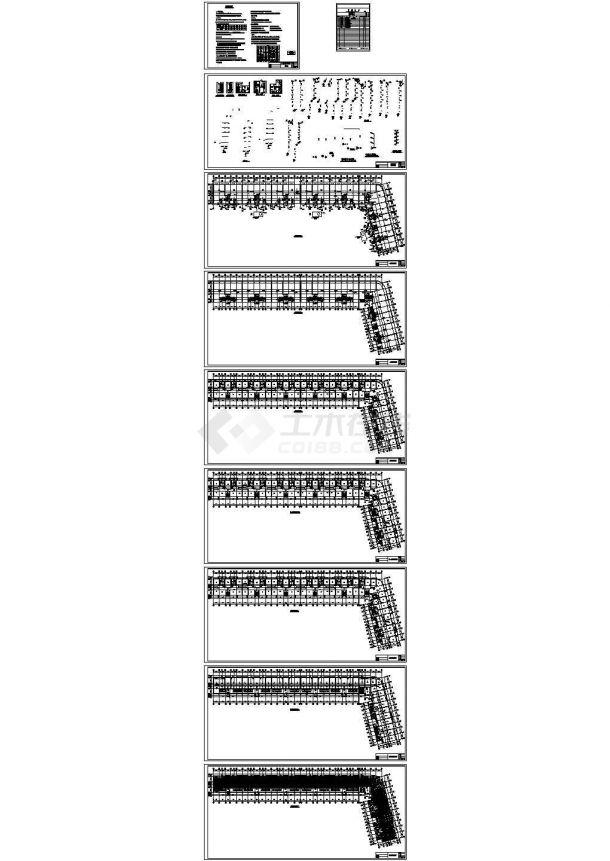 安徽某六层商住楼全套给排水施工图(含给排水平面图)-图一