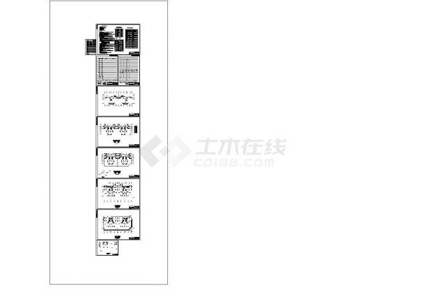 高层住宅给排水设计CAD施工图纸-图一