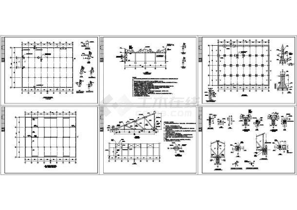 木屋架厂房结构设计施工图-图一