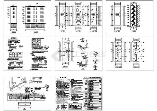 某多层住宅建筑和结构设计施工图纸-图一
