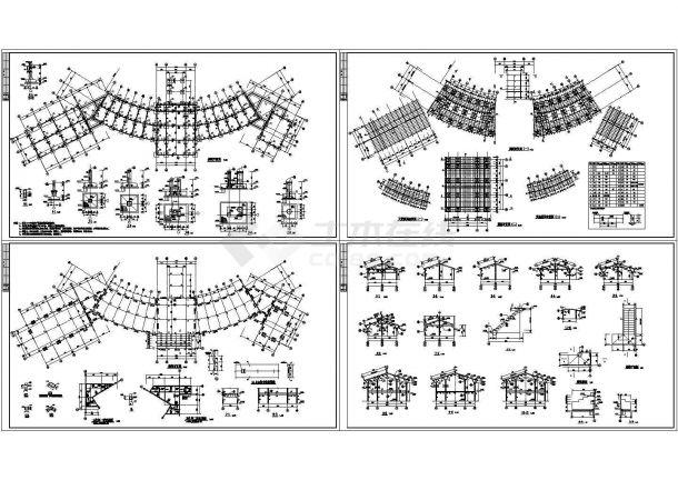 木结构入口大堂设计设计施工图-图一