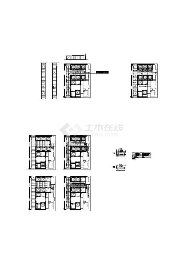 某文化中心电梯厅强电CAD施工图-图二