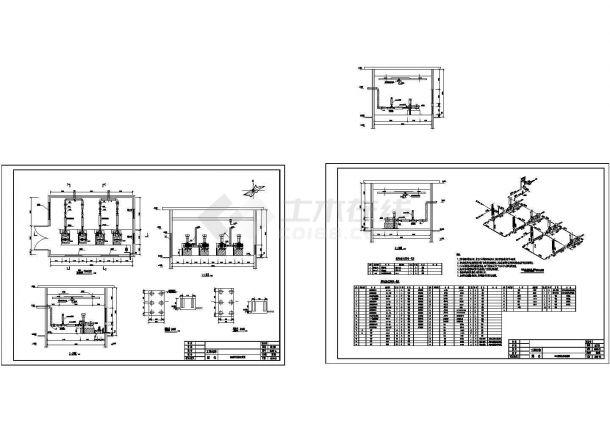 污水综合处理厂给排水施工图-图二