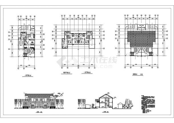 洋河卓玛新农村一层住宅设计方案cad图纸,含说明-图一