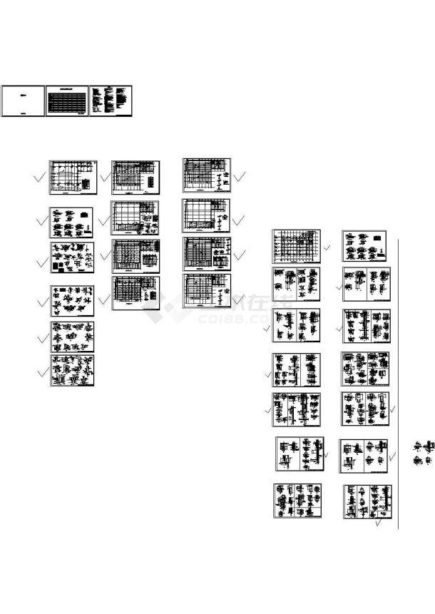 北京某四层连接体多功能体扩建工程钢结构设计图-图一