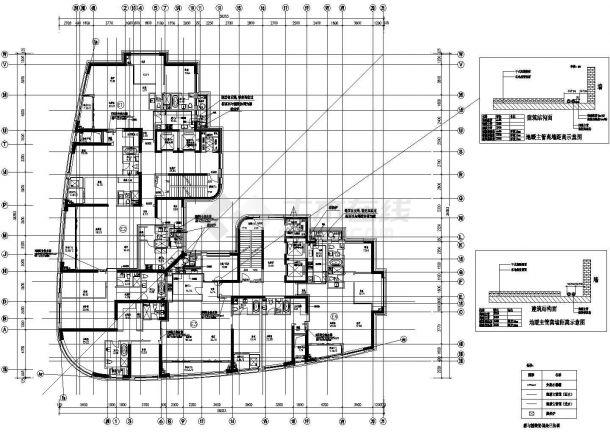 上海某普通高层住宅项目地板辐射采暖系统竣工cad图纸-图二