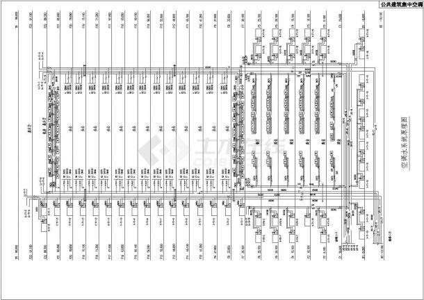 典型公共建筑集中空调设计cad全套系统原理图(含水系统、通风及防排烟系统、水系统等设计)-图一