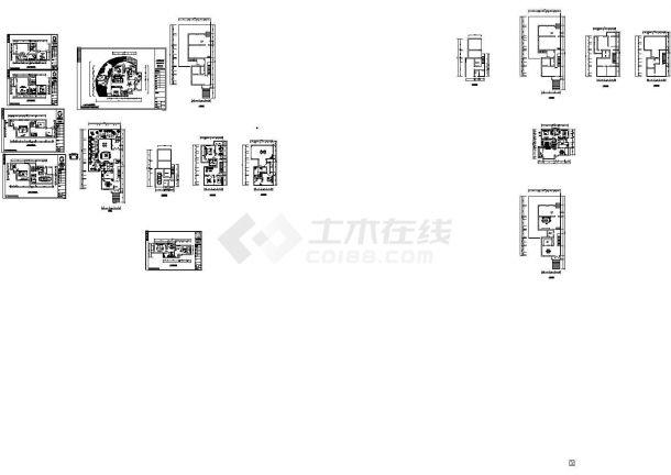 中式别墅装修设计cad施工图及效果图.-图一