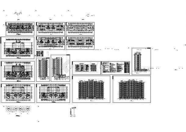 二万平方米十七层住宅楼建筑施工cad图,共十八张-图一