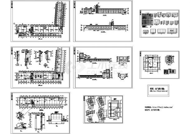 长138.9米 15.8米 2层汽车交易中心展厅门面建筑施工图-图一