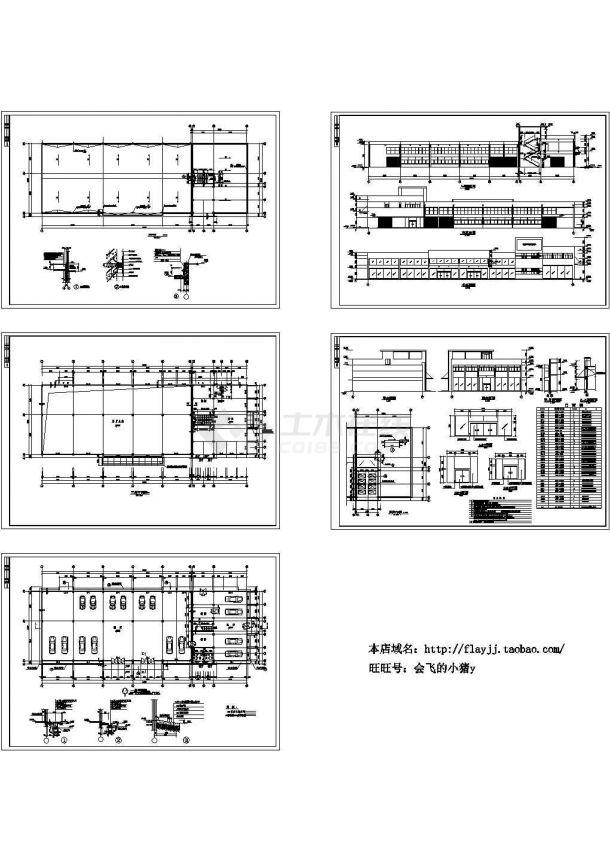 长62米 宽22米 3层1893.18平米汽车展厅建筑施工图-图二