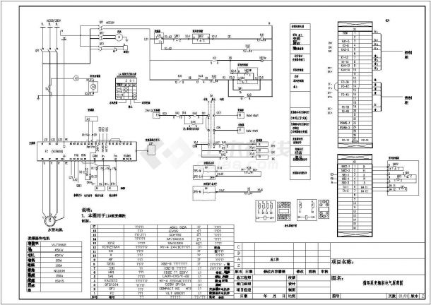 循环泵变频柜电气控制原理图-图二